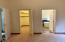 Master bedroom's walk-in closet and master bathroom