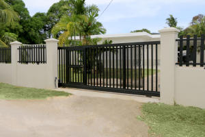 Front View - electric gate
