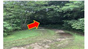 Until surveyor relocates the property points, this is the approx. location shown Seller's agent.