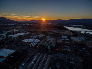 Imagine taken from drone, Scenic view sunset from Cherry Street.