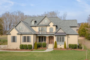 Custom built all brick home located on the golf course.