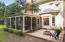 Screened Porch and stamped concrete Patio