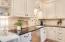 Kitchen with black granite