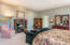 The master suite with fireplace