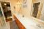 Jack and Jill bath with double vanities
