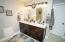 Newly renovated Master Bath with double vanities