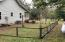 Fenced side yard for dogs