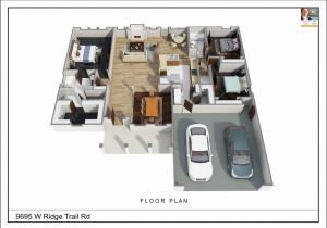 3D Stylized Floor Plan