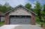 Brick & Stone exterior on front of 2 car garage