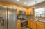 Recently remolded kitchen with ample lighting