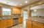 Tile kitchen floor and back splash