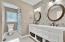 hall guest bath, double vanities