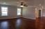 Second level living area/ bonus area