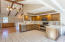 Kitchen with all stainless steel appliances included