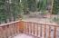 Deck off of the Master Bedroom