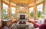 Master Suite Sitting Area and Fireplace Main House