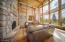 Cedar Storage under the windows.