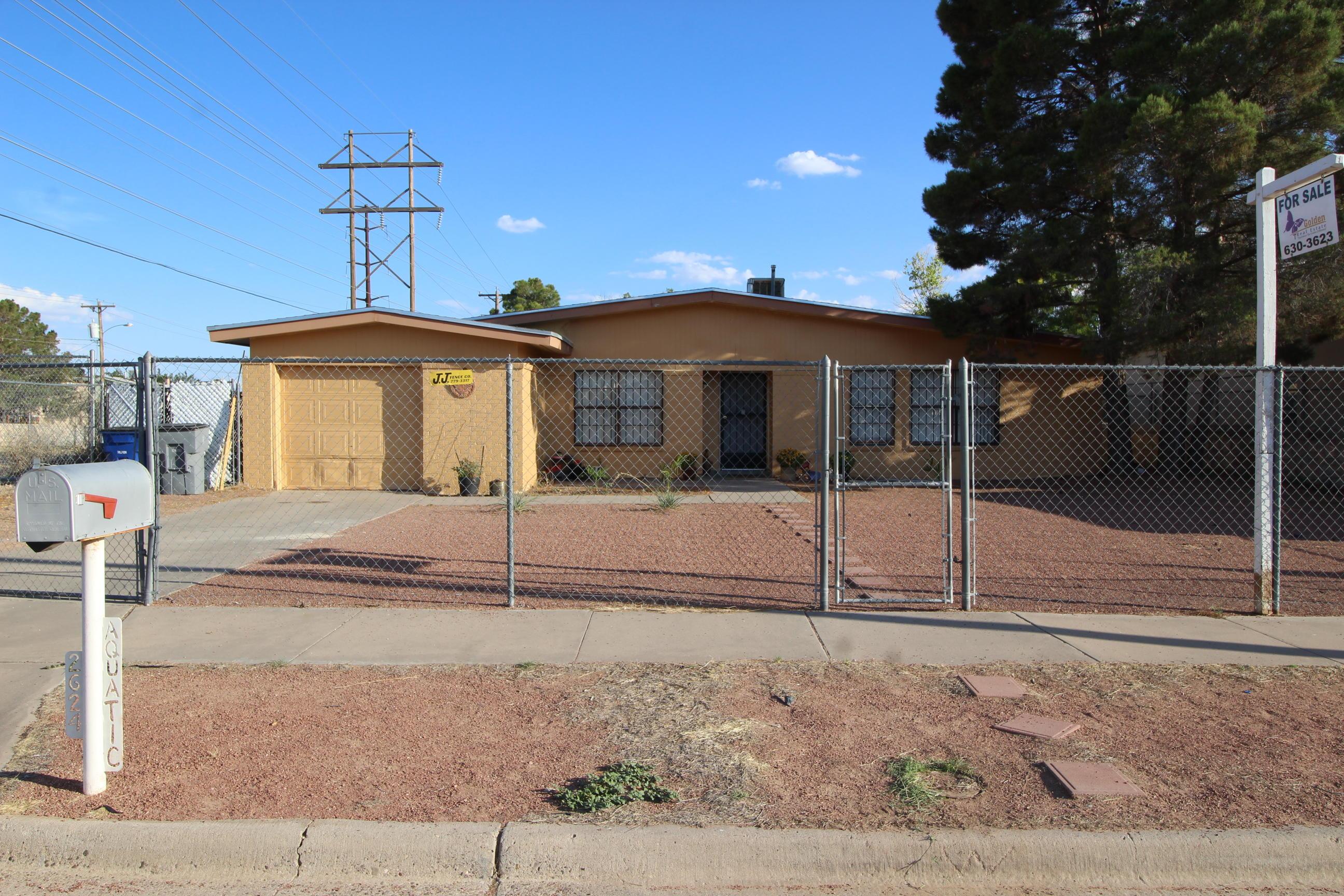 2624 AQUATIC, El Paso, Texas 79936, 3 Bedrooms Bedrooms, ,2 BathroomsBathrooms,Residential,For sale,AQUATIC,811116
