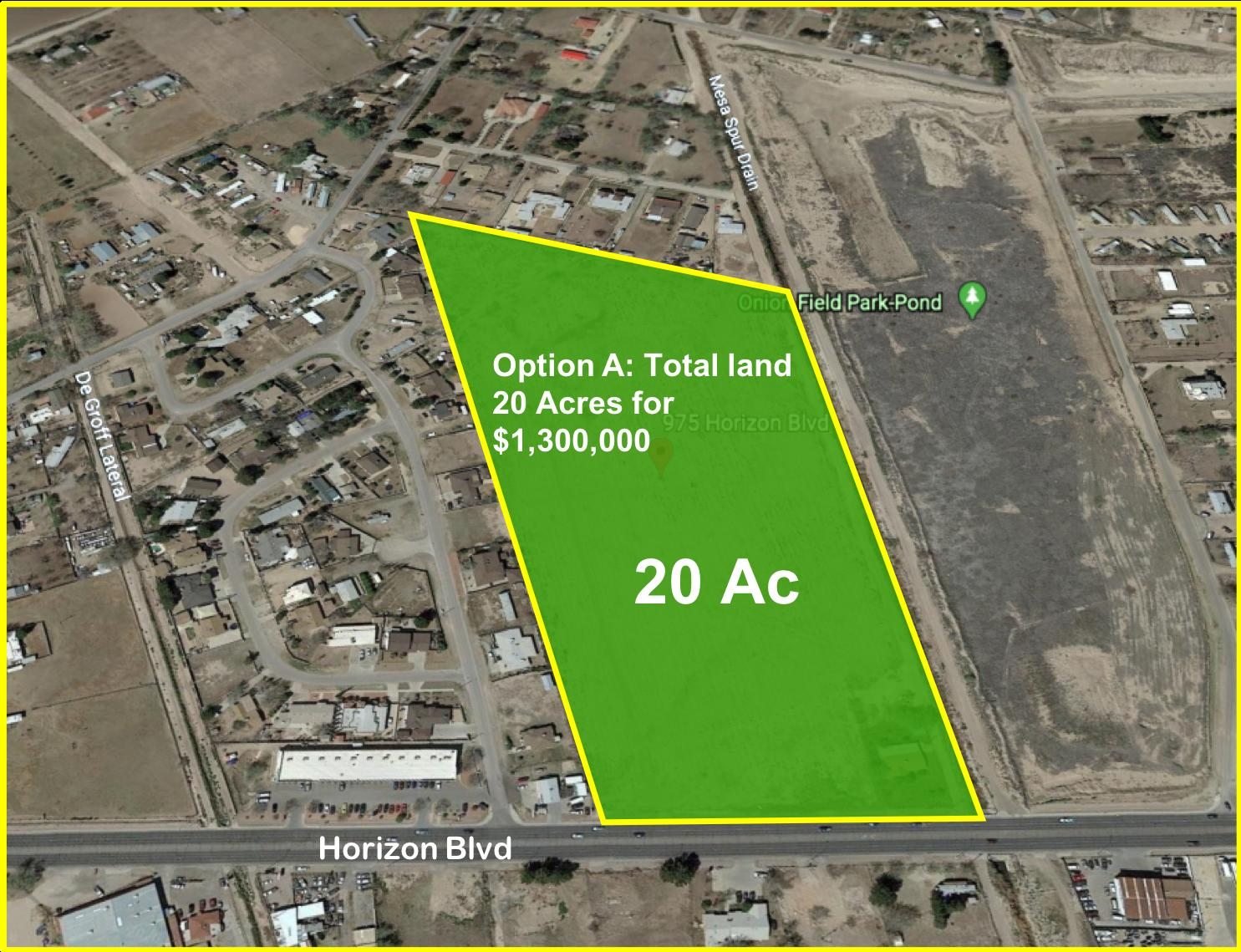 975 Horizon Boulevard, Socorro, Texas 79927, ,Land,For sale,Horizon,745242