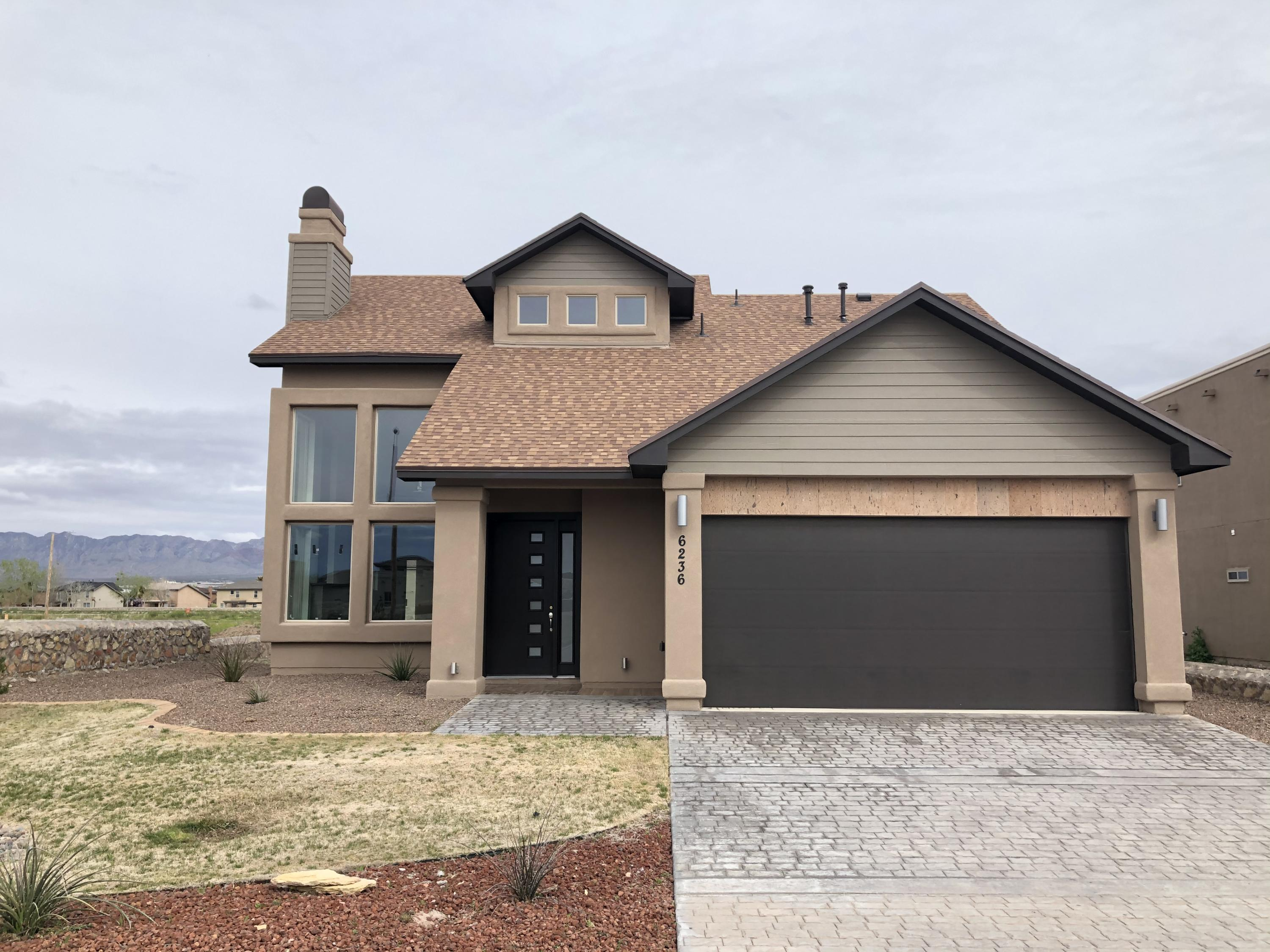 This beautiful never used modern 2017 home, is located in the heart of Artcraft Estates. Luxurious, wide open living space, sophisticated fireplace, large windows to allow natural light, ceramic tile, carpet, high ceilings and an original floor plan. This house has granite counter tops throughout the home, stainless steal appliances, wood cabinets, spray foam insulation, trendy colors and a great vibe. It is four bed, two and a half bath, with the master downstairs and a beautiful tile patio with a great mountain view. Come see this one of a kind place and let's make it home.