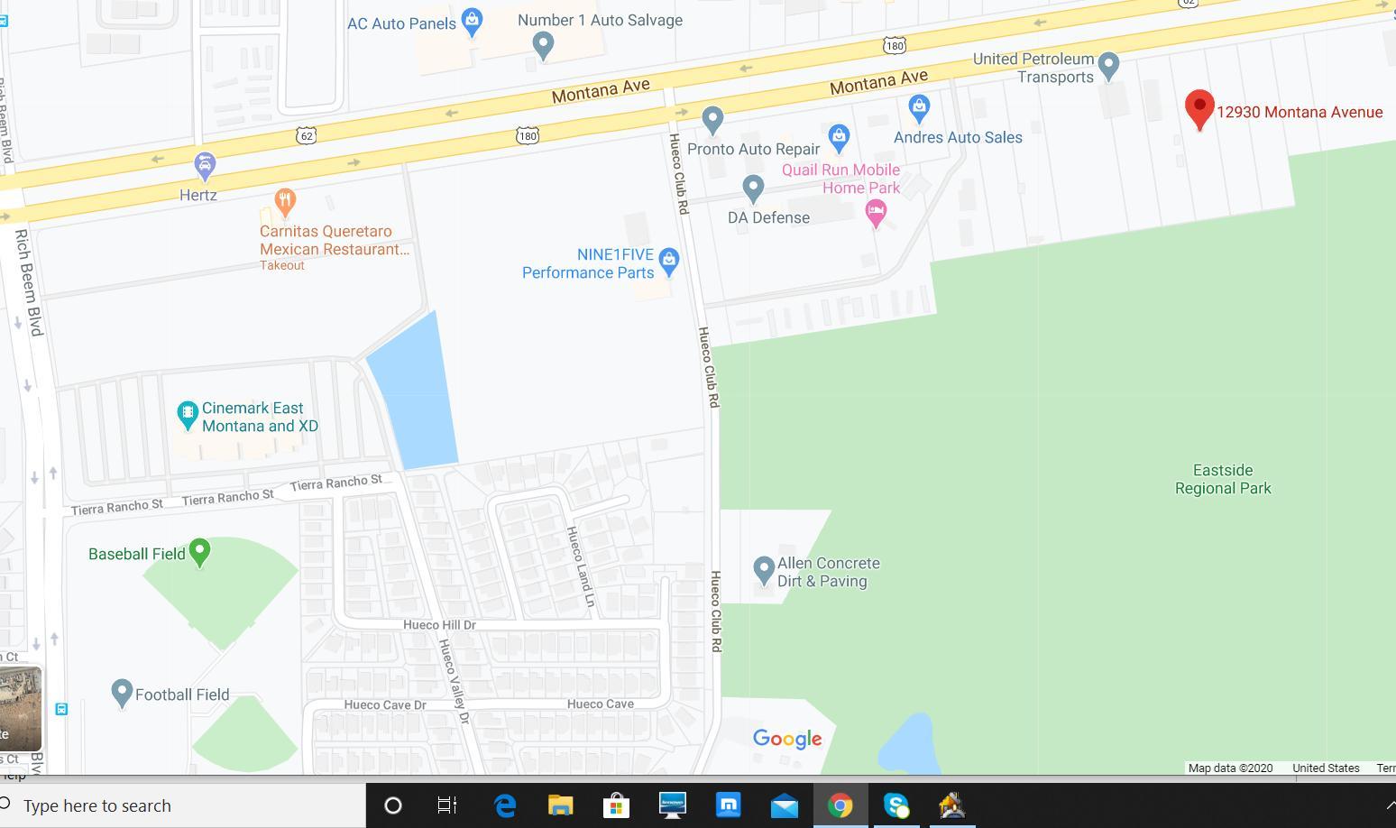 12930 MONTANA Avenue, El Paso, Texas 79938, ,Land,For sale,MONTANA,827199