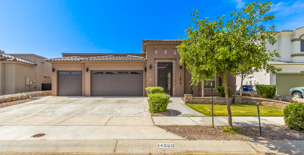Stunning El Paso turn-key gem! A beautiful must-see 4 bed, 2.5 bath, 3 car garage custom home w/theater room ready for your large family to enjoy. Privately secured outdoor courtyard leads into an impressive foyer. The great room has that ''WOW'' factor, perfect for entertaining/relaxing in style with ample spacing for furniture, has built-in cabinetry, surround sound prewire, cozy fireplace, and visibility/access to the back yard. Custom kitchen fully equipped with chef's kitchen upgrade package, stunning cabinets with under mount cabinet lighting, butterfly island, dual under mount sinks and skylight providing warm natural lighting. Gorgeous main bedroom suite is quiet, spacious and luxurious with en suite bath and resort-worthy features. Amazing theater room is decked out with mini bar, sink, microwave, cabinets and wine fridge; backyard is landscaped with high end finishes. Close proximity to highly rated schools/parks/shopping make this a 10 out of 10. Schedule your showing today!