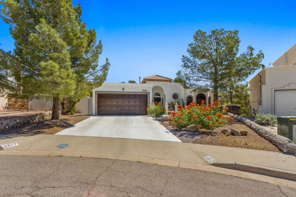 Beautiful spanish style fully remodeled home located in one of the most desired areas of the westside of El Paso!  This home is sitting on 10,000 square foot, cul-de-sac lot.  This home offers tile through out with 3 bedrooms, 2 bathrooms, and an office.  Fully landscaped backyard with a jacuzzi and a fireplace, perfect for entertaining!  Don't miss this opportunity to spend the holidays in this gem!  Schedule your viewing today.