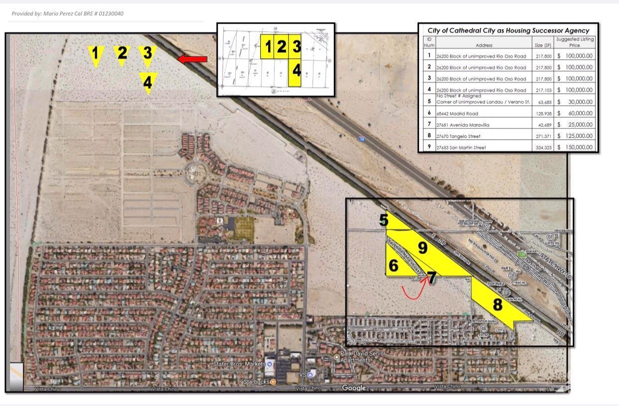0 Avenida Maravilla, Cathedral City, California 92234, ,Land,For Sale,0 Avenida Maravilla,219030428