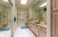 Double vanities and step in shower