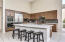 Open kitchen with kitchenaid appliances, and purified water dispenser