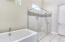 Wonderful soaking tub as well as ample stall shower