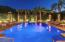 Beautifully lighted pool for evening entertainment