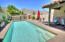 Private courtyard with saltwater pool and mesmerizing mountain views