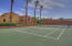 Tennis anyone? There is a lighted tennis court for those that are up for a game of tennis.