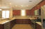 Beautiful kitchen cabinets with stainless steel appliances.