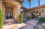 Gated Front entry courtyard