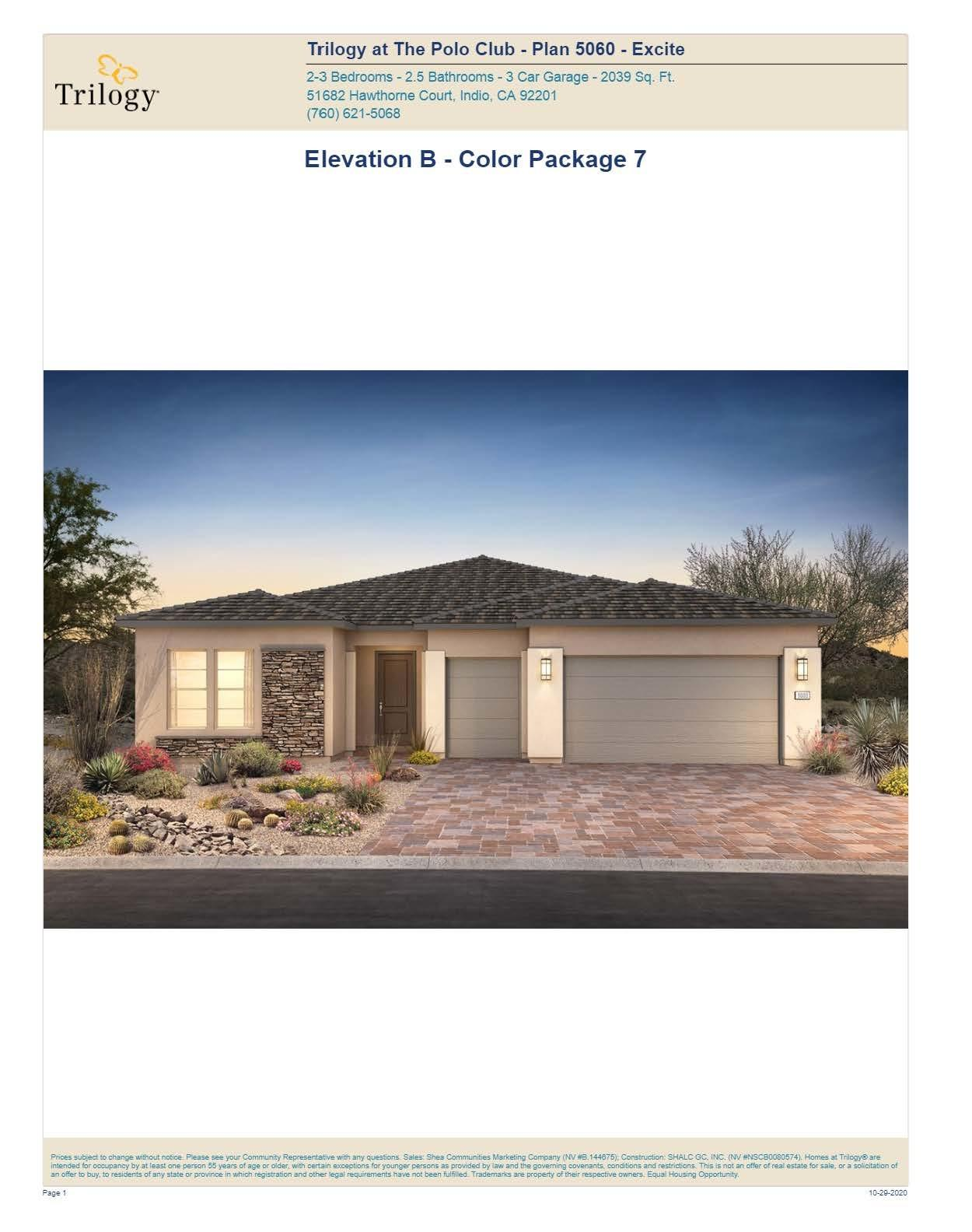 Photo of 50860 Monterey Canyon (Lot 5007) Drive, Indio, CA 92201
