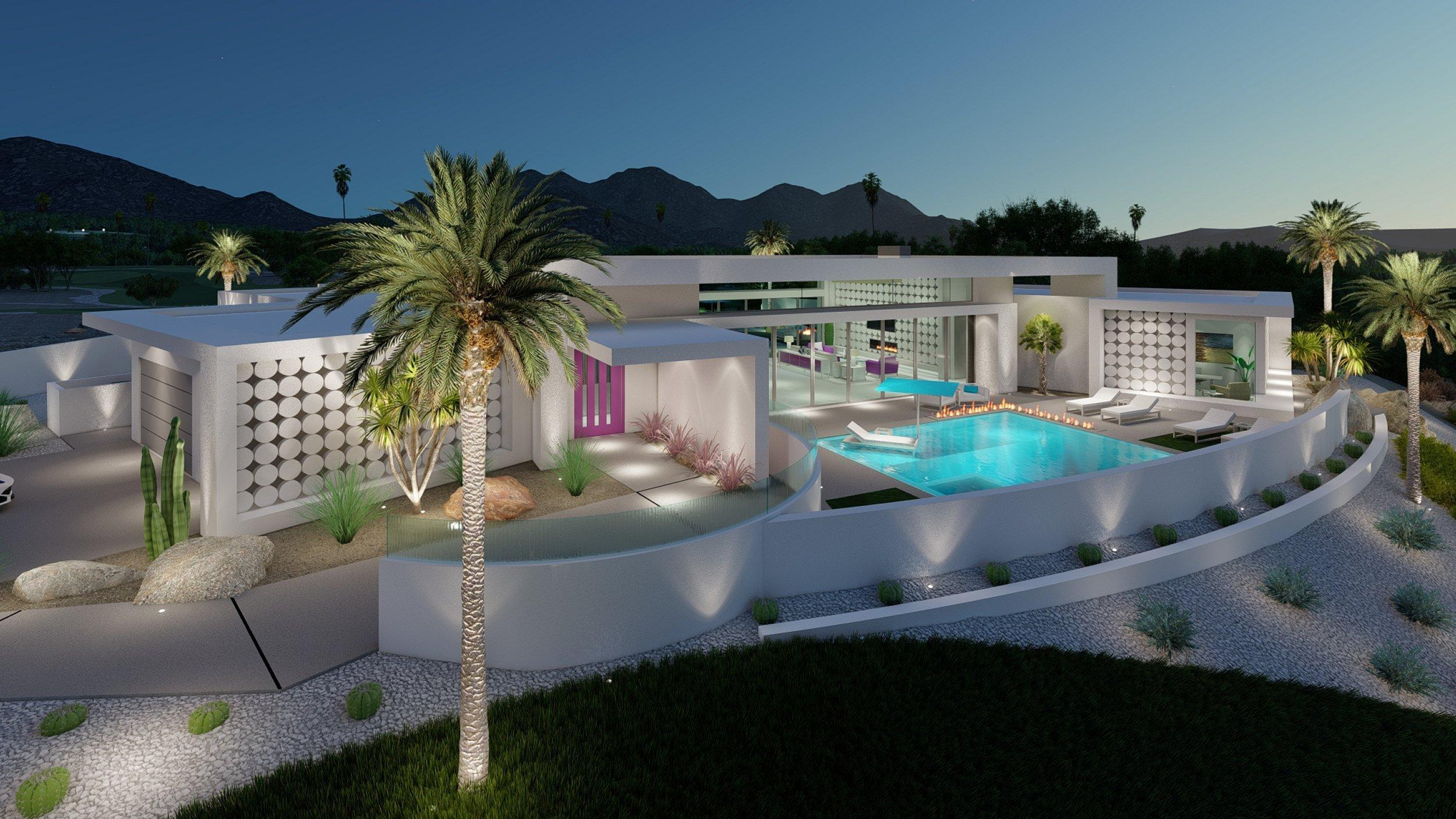 PRE CONSTRUCTION Offering - Custom, contemporary desert residence located in the highly sought after ''The Quarry'' in La Quinta, a Guard Gated Tom Fazio Designed Golf Club, tucked in a scenic cove between the foothills of the Coral and Santa Rosa Mountains. The unique property is perfectly positioned to capture panoramic views from the front and back of the house.  While the design maximizes the unobstructed commanding views, it takes into consideration the utmost importance of privacy. Situated on a king size lot, of more than 28,000 square feet, with sprawling outdoor spaces and the views of the golf course are arguably the best within the club. Delivering the perfect balance of form and function, the approximately 4,300 square foot home offers 4 bedrooms, 4.5 baths, a study, media room and a 3-car garage. The striking design showcases dual expansive walls of sliding glass doors, clerestory windows, an outdoor ZEN Lounge area off the master bath, outdoor kitchen & bar, two pools and two spas all designed to enhance the Southern California Desert Lifestyle. There's also outdoor fire features, a BBQ area, lighting effects and fine quality finishes throughout. The Quarry is an incredible enclave with unmatched exclusivity, serene views, top rated security and patrol.  Also ranked in Golf Digest's Top 100 Golf Courses. Ranked #5 in Overall Conditioning in the US. An opportunity of this caliber Rarely Becomes Available!