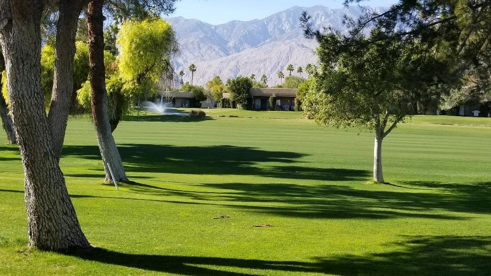 Updated 3 bedroom west facing condo with lots of charm.  Beautiful views of the San Jacinto mountains and Cielo 9.  Fresh paint, newer flooring and baseboards, updated appliances.  Nicely decorated makes this condo stand out.  The Desert Princess community has an affordable 27 hole PGA Championship golf course, no tee time lotteries, no initiation fees, and is rated among the best in the valley by Golf Digest. This quiet community is away from the noise yet less than ten minutes from Palm Springs International Airport. Desert Princess has 34 swimming pools, 10 Tennis Courts, Health and Fitness Center. Land Lease thru 2044, monthly ground rent is $152.88.