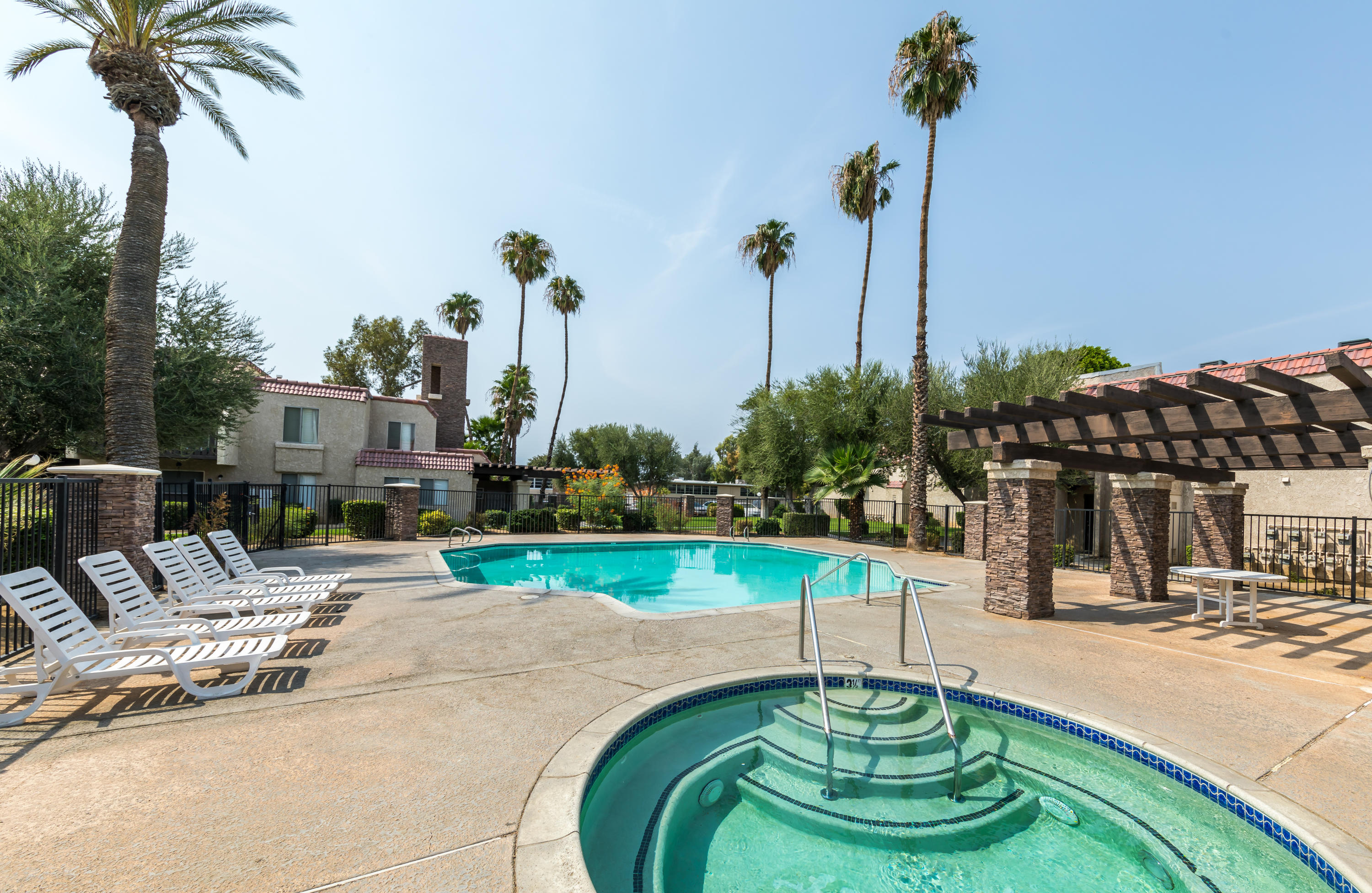 Very Cute condo located in the Tres Flores Community. This upper unit condo includes laminate flooring throughout, kitchen features granite countertops, white cabinets, gas range, private balcony off the living room. Conveniently located next to the community pool and laundry facility.