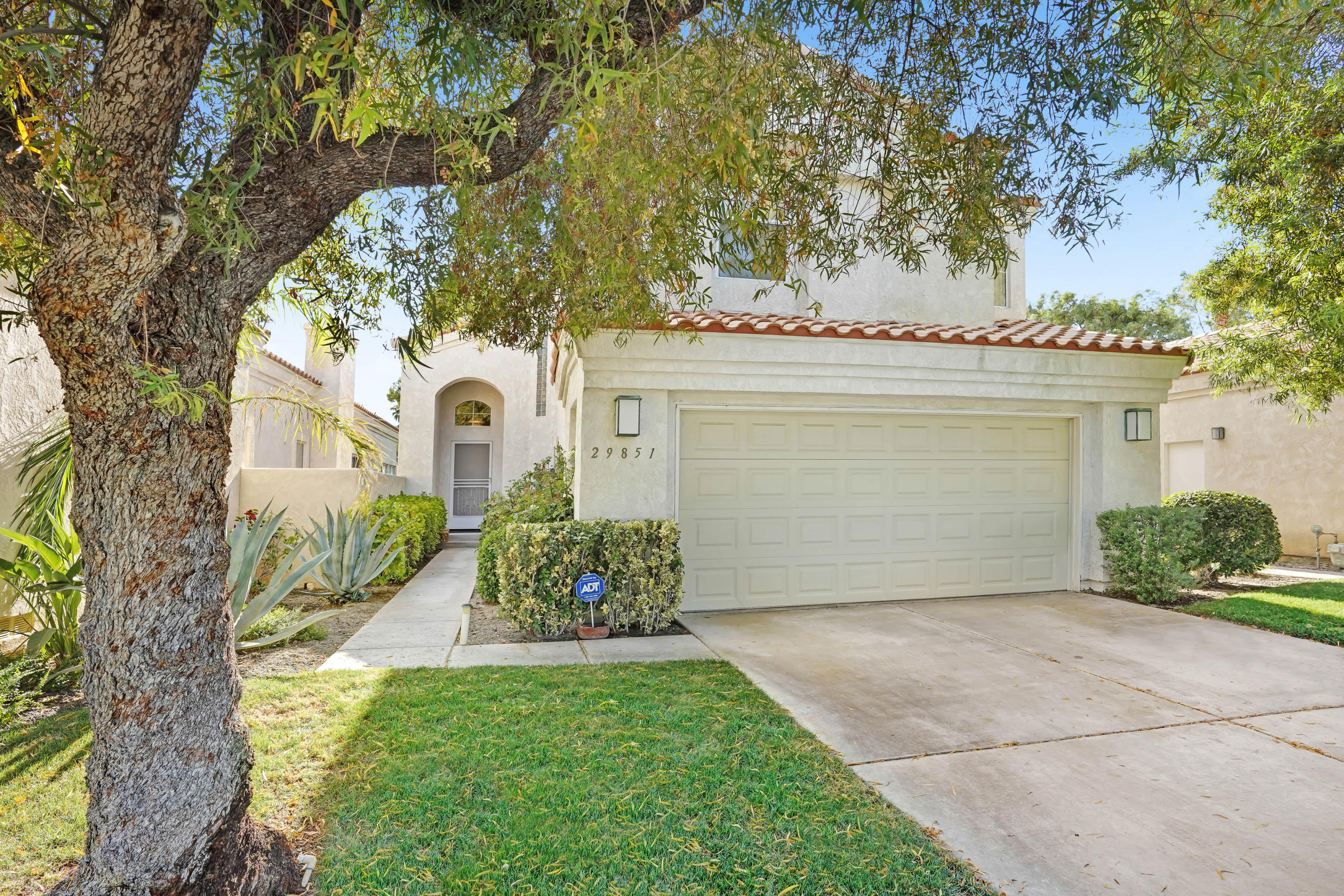 Largest Desert Princess two-story villa! This La Paz floor plan has it all. It's spacious, turnkey furnished, and with majestic views of the surrounding mountain ranges and golf course ! You can enjoy these views from the in-ground private spa, patio, or on the balcony that's located outside the master bedroom which is vast in space. The exterior also has custom lighting that includes tree illumination . Desert Princess has a 27-hole championship golf course and has maintained an inimitable sense of country club privacy. Some amenities include a recreation and fitness, seven plexi paved US open tennis courts, basketball, racquetball, ten championship pickleball courts, bocce ball, horseshoes, and a full-service Spa with sauna, hot tub and lap pool. There are 33 additional swimming pools throughout the common areas, all maintained by our community and It's only 10 minutes from downtown Palm Springs .