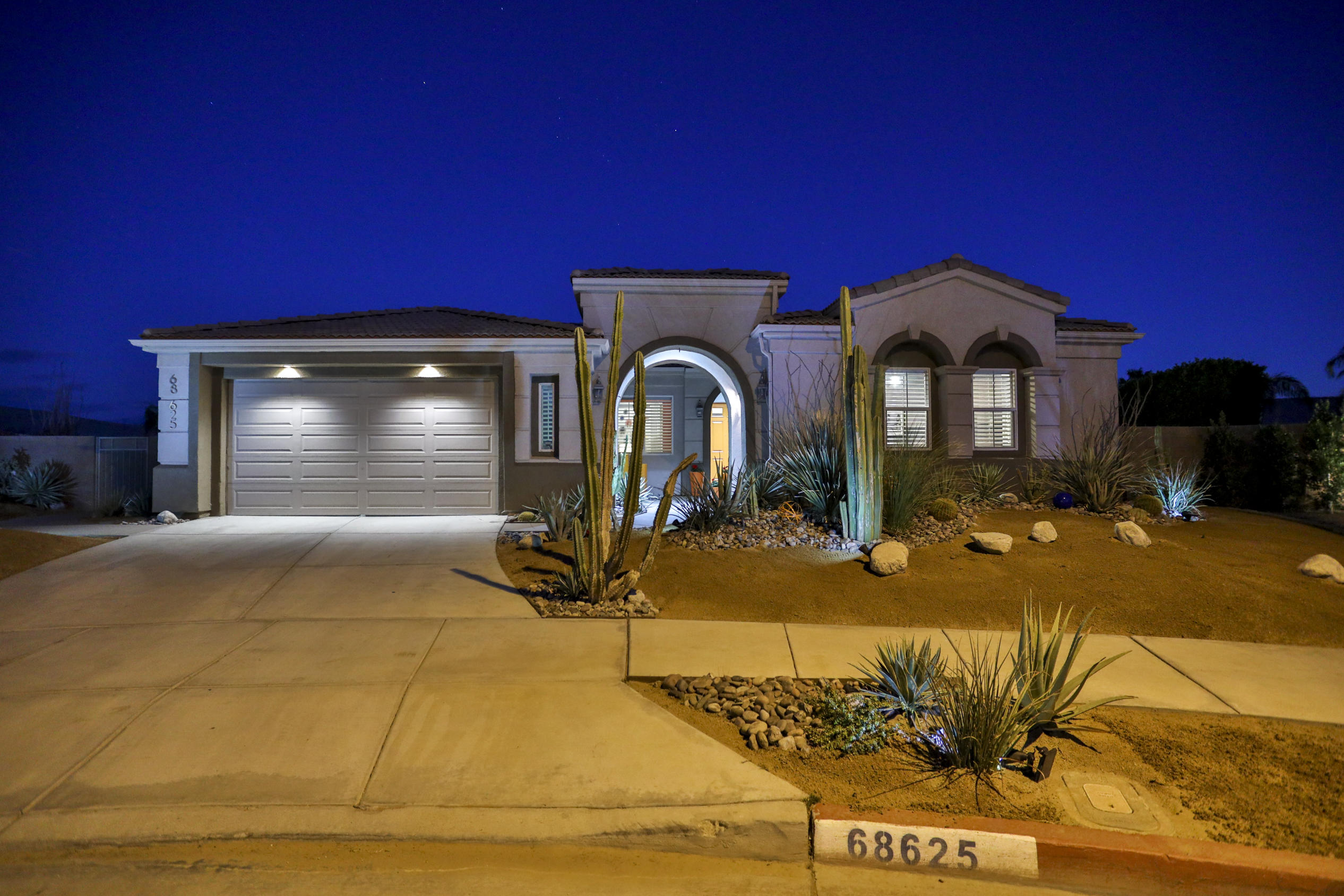 Entertainers Dream!! This highly upgraded 4 bed, 3.5 bath, detached casita, cul-de-sac, pool home is located on FEE land and has it all!  With over 2,600 this home flaunts an open floor plan, gourmet kitchen, private pool & spa, built-in BBQ, outdoor fireplace, detached casita, dry bar, flex room and option to add a 5th bedroom. The bright kitchen features granite countertops, kitchen island, plenty of cabinets for storage, bar top seating, 5 range gas stove, double ovens, and opens to the living room and dining nook. The living room features high ceilings, Bose surround sound, fireplace and has direct access to the backyard. The Flex space off of the living room can be used as a 5th bedroom, second living room, or home office.  The spacious primary bedroom features high ceilings, a bonus room that could be used as a den, additional living area, or home gym, a great walk-in closet, double vanity, walk-in shower with bench seating & direct patio/pool access. The guest bedrooms are of good size with high ceiling, tile floors, ceiling fans, and are located on the opposite side of the Primary bedroom. The detached casita has its own entrance and is perfect for guests or family. The private backyard is amazing! With multiple areas to entertain you can sit by the covered patio and enjoy the fireplace or relax poolside, or watch the sunset from the elevated pool deck! Too many upgrades and features to mention! Inquire about the upgrades and features list...this home is a MUST SEE!