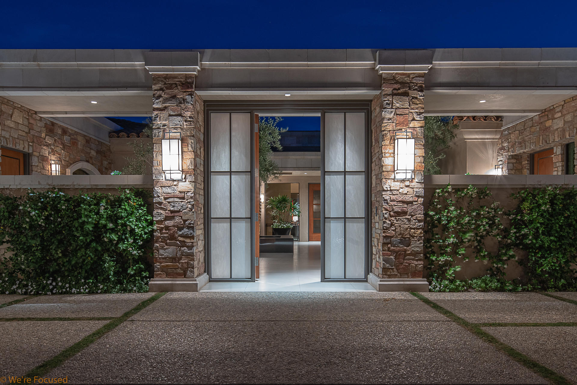 Magnificent residence in the Luxury Community of Toscana Country Club.   Iron and onyx front gates open to a tranquil and inviting courtyard showcasing lush landscaping and a work of art water feature.  This home was built on an elevated homesite capturing unobstructed southern views of the Santa Rosa Mountains.  In addition, views encompass a large lake as well as the 11th, 12th,13th fairways and greens of the Jack Nicklaus Signature South Course.   A custom contemporary home with approximately 6420 SF, 4 Bedrooms, 4.5 Baths designed by architect, Thomas Jakway.     Home was constructed with unsurpassed quality, architectural features and interior finishes by luxury home builders, Langlois Construction. An oasis in the Indian Wells - Custom pool. spa, waterfall, firepit, patio heaters and BBQ.    Patio offers shaded and open patio areas for sunning, lounging and outdoor dining.  Easy flow between the indoor and outdoor spaces create a lifestyle of relaxing privacy, intimate entertaining or grand celebrations.  Spectacular views both day and night. A must see!