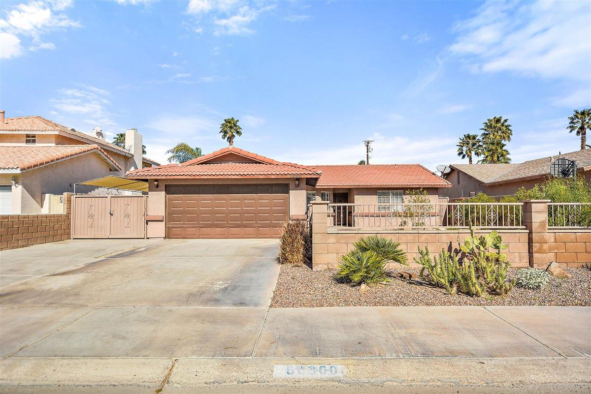 Available for viewing starting April 17, 2021. Come home to this beautifully maintained and updated single-family pool home. Designed with executives and professionals in mind. The home is a 5 minute walk to Panorama Park and a short drive to shopping, the airport, & downtown Palm Springs. This quality-finished 3 BR, 2 BA home has an open floor plan, great for entertaining. The comfortable living/family room has built-ins and is anchored by a gas fireplace. There is tile flooring throughout. A chefs' kitchen offers stainless steel appliances & granite counter tops. You'll find spacious closets & lots of storage space to help you keep organized. Master bedroom has a walk-in closet & is en-suite w/separate sinks. Its sliding doors open directly to the patio. Presently one of the 3 bedrooms is furnished as an office. Swim & lounge by the saltwater pool/spa where you'll enjoy peek-a-boo western mountain views. The grassy backyard is large enough for recreational activities & the rear covered patio deck area provides an inviting shady place for enjoying an outdoor lunch after a swim or a glass of wine w/friends. The front of the home features easy-care desert landscaping. Extras include an outbuilding for storage & covered parking for your RV. Ready for immediate occupancy. Just bring your bathing suit & a toothbrush!