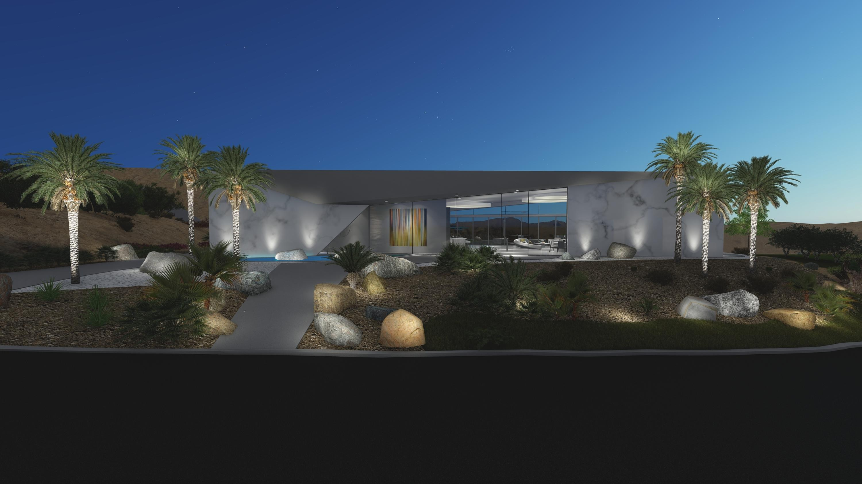 Pre-Construction Offering - Enjoy  Mirada Estates & Ritz Carlton experience in this Ultra Contemporary, architecturally significant home by Brian Foster.  On a private ''king sized'' lot over 3/4 acres with incredible front row views of the city and San Jacinto mountains.  Offering walls of glass, pocket sliding doors, fire features, water feature, pool, spa and much more.  Main home offers 3 bedrooms/3.5 baths, study, lavish master suite, large entertaining areas and 3 car garage.  Detached guest house offers 2 bedrooms, 2 baths in 1200 square feet with a carport.   Also included are: outdoor kitchen/cabana/dining area, outdoor ZEN lounge area off master bath with double showers, fire feature, daybed & bathtub.  Exclusive access agreement for the Ritz Carlton.  You easily live the Five Star resort lifestyle with in-home dining, restaurants, spa, gym, pools & more at discounted rates. No membership fees.  Your guests can also stay at the Ritz Carlton.  Mirada is the most private enclave of custom homes with unmatched security and 24-hour patrol.