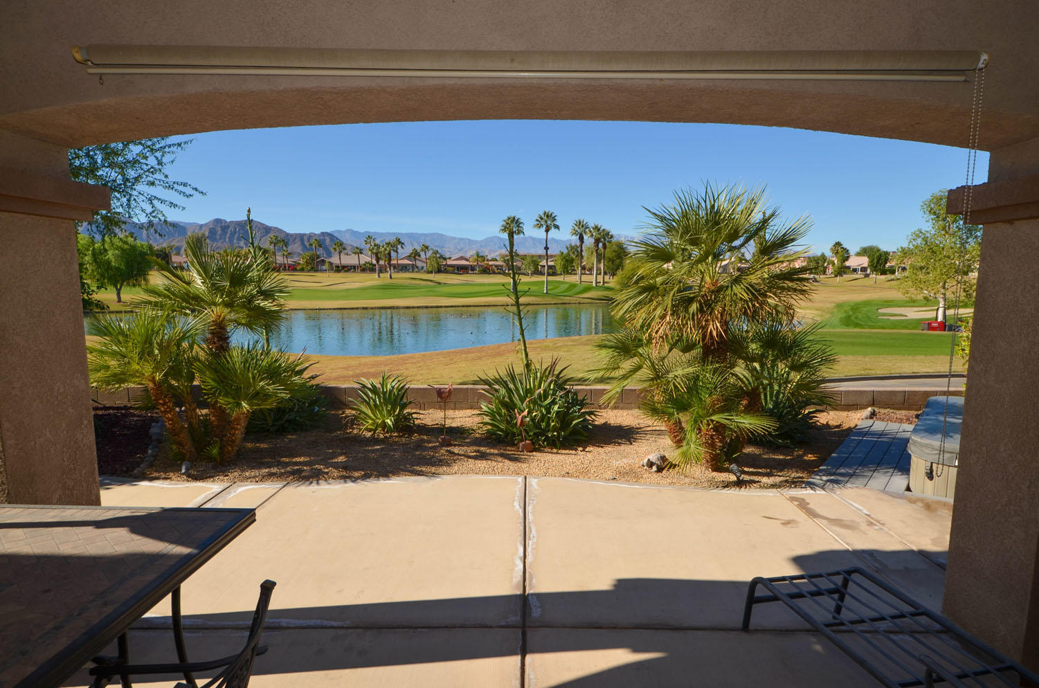 Million dollar view for half the price! This property is being sold fully turnkey furnished for a great seasonal rental. New AC, water heater, circulating pump, sofa, and cover for the spa all within the last year.