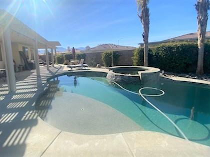 Sensational Pool and spa home that can be used for short term rentals. Very open and bright floor plan. Killer backyard with a SWEET pool and spa and lots of privacy. Livingroom, family room open to the kitchen and breakfast nook, plus a dining area. Spacious Master bedroom with shower and tub combo and large closet. Nice guest bedroom and office/den/3rd bedroom with out a closet. Tenants are in the property and would like to stay, Special home that will go quickly. Call for an appointment today!