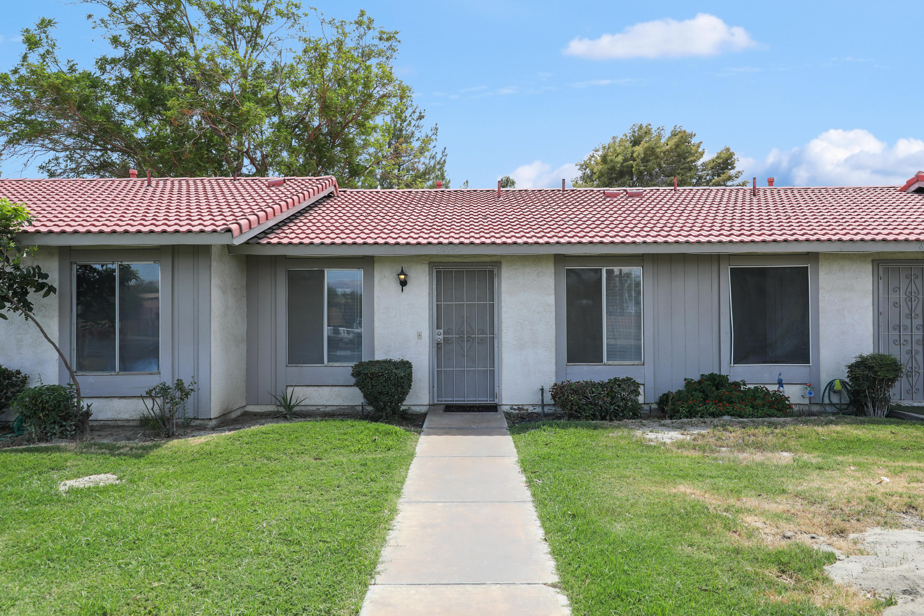 Great furnished investment opportunity for a short term rental or a great starter condo with good entry pricing all within the gated community of Indian Palms. This unit overlooks the refreshing pool/spa area and multiple tennis courts. Indian Palms is the prime location for walking to the world famous Coachella and Stagecoach festivals. In addition, you will have the luxury of IID for electricity, which is lower than most cities.  Short term rental income has averaged $40,000 a year in the past several years. Bring all offers.