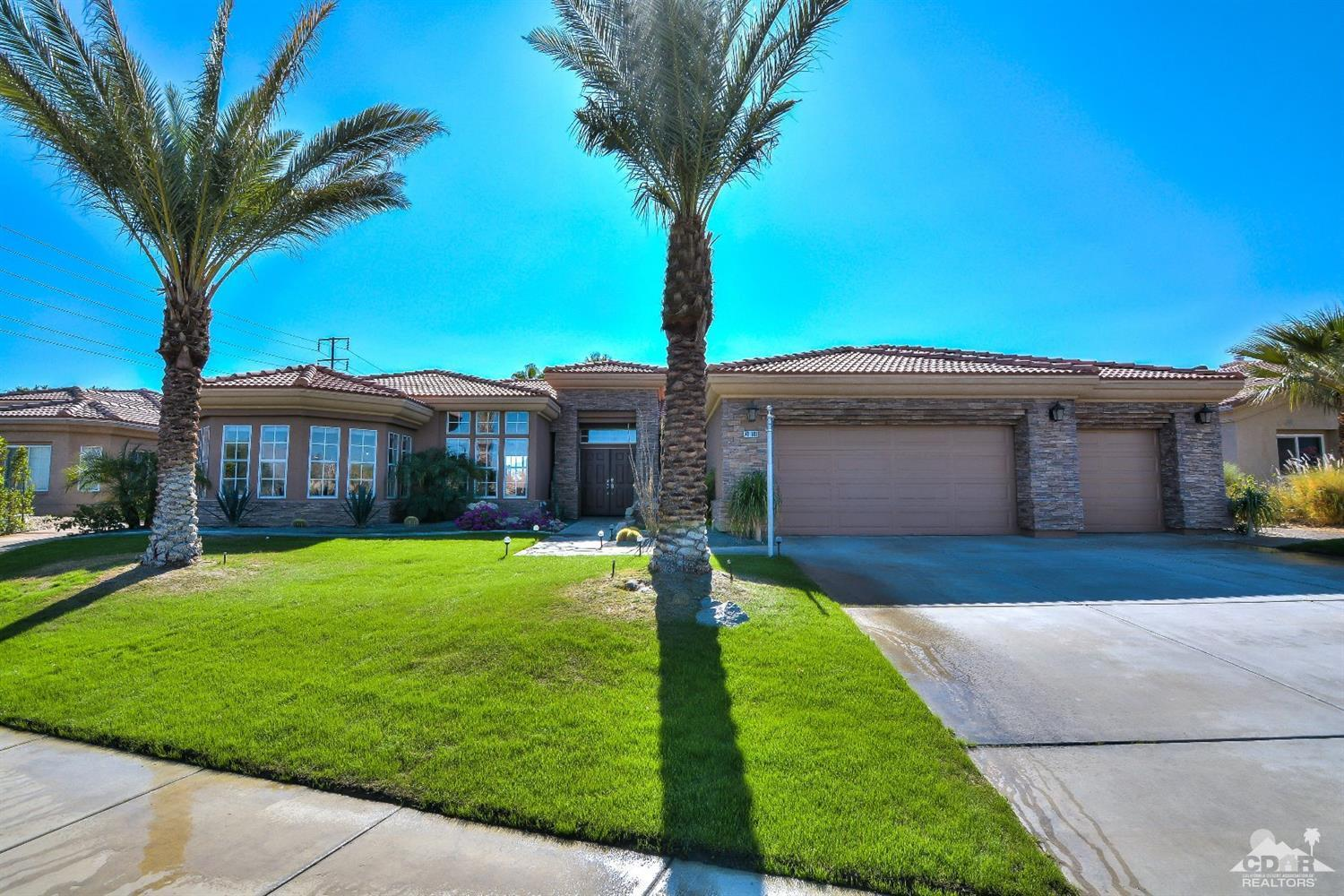 Owned SOLAR and thermal! Net Zero energy cost!! Additional thermal provides the pool with low cost heating. Ideal southern exposure with gorgeous rear yard. Walk up the beautiful flagstone pathway past 2 stunning entry ponds, to the double door entry and spacious foyer. Beautifully redone home with huge remodeled kitchen, family room, very open floor plan. Huge master suite has slider out to rear yard, see though fireplace to soaking tub, double vanity, walk in closet. Formal living and dining rooms are open to the family and kitchen areas. 3 more bedrooms and 2 full baths complete this gorgeous interior. Floor to ceiling stacked stone fireplace in living room. 3 Cascading waterfalls into resurfaced pebble tech salt water pool. Large spa for stargazing at night. Beautifully landscaped lush yard with several fruit trees. Oversized 3 car garage with Tesla charger installed. Beautiful stacked stone exterior. Huge driveway parking, plus ample street parking. Cul de sac location. No HOA Dues. Includes 2 brand new air conditioning units as well as a brand new pool heater!!!