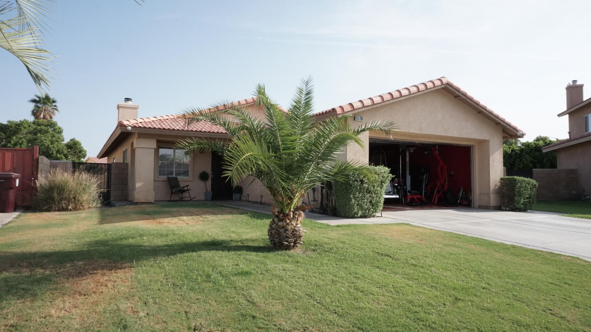Ahh, Peace & Privacy! Come enjoy this comfortably upgraded home with a large side & rear yard with a pool, palms & grass for these hot summer months. Three bedrooms, two full bathrooms & a great living/ dining room with a comfortable fitted patio for as much outdoor enjoyment as you can get! Gorgeous upgraded appliances, polished wood kitchen cabinets/ others throughout & tile throughout has been maintained & kept in great condition. The outdoor patio has lights, misters & shade screens that make for outdoor entertainment & enjoyment a breeze. And when these winter nights come around flip on the fireplace to enjoy warmth through the house. This home has a lot to offer in a great location with great neighbors! Come see for yourself!